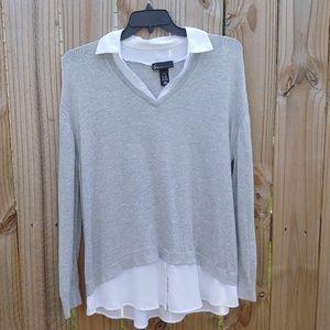 Lane Bryant layered sweater